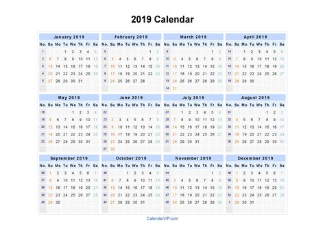 February 2019 Calendar Word | calendar month printable