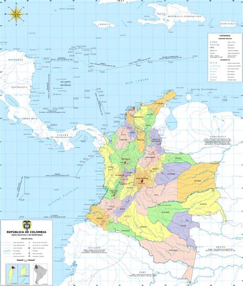 fediazor: mapa geográfico de Colombia