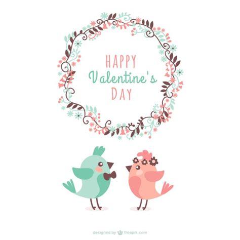 Felicitación de San Valentín con pájaros | Descargar ...