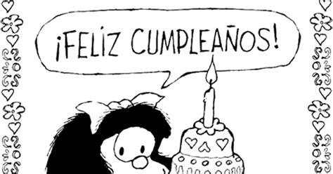 Felicitaciones de cumpleaños: Mafalda con una tarta ¡Feliz ...