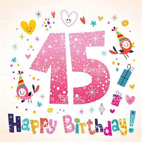 Feliz Cumpleaños 15 Años Los Niños Tarjeta De Felicitación ...
