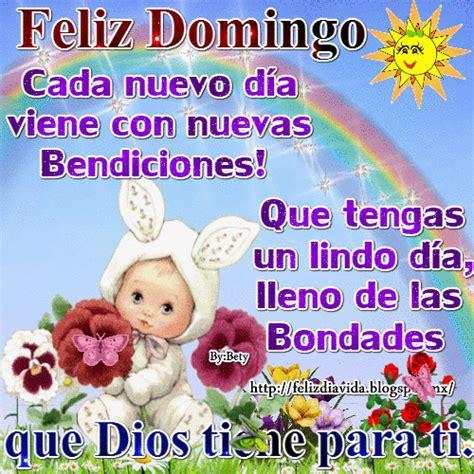 Feliz domingo cada nuevo día viene con nuevas Bendiciones ...