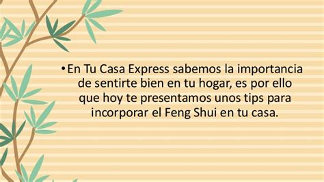 Feng shui en tu hogar con Tu Casa Express