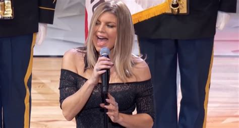 Fergie admits her national anthem 'didn't strike the ...