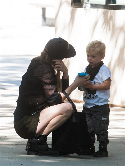 Fergie and Son Axl Jack Duhamel Go to the Park   Zimbio