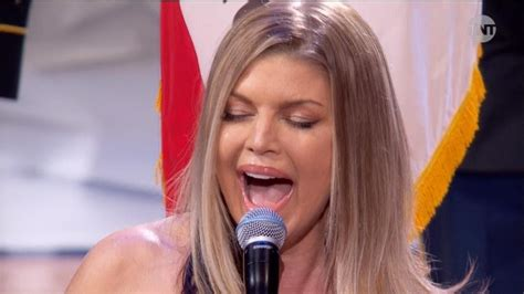 Fergie Mocked for National Anthem Performance at NBA All ...