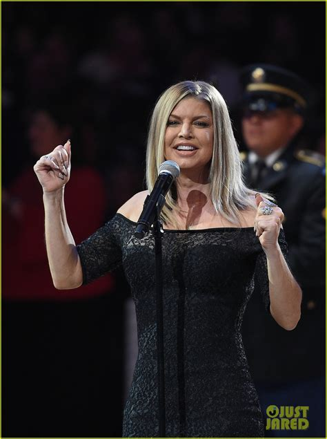 Fergie Performs the National Anthem at the NBA All-Star ...