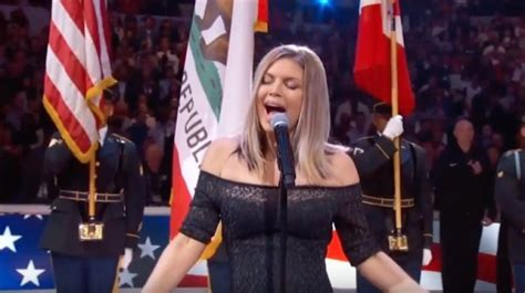 Fergie Performs The U.S. National Anthem - Discussion ...