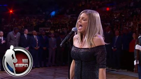 Fergie s Rendition Of The National Anthem Hits A Sour Note ...