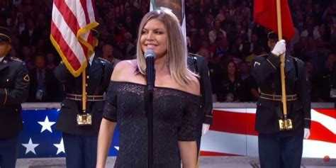 Fergie Sang the National Anthem At the All-Star Game and ...