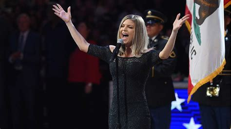 Fergie says national anthem performance at NBA All Star ...
