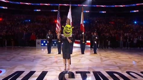 Fergie singing the National Anthem but it's All Star by ...