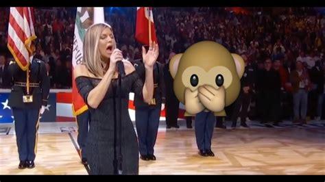 FERGIE SINGING THE NATIONAL ANTHEM   YouTube