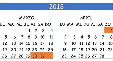 Feriado de Semana Santa 2018 - feriadosec.com