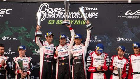 Fernando Alonso gana las 6 horas de Spa, su primera ...