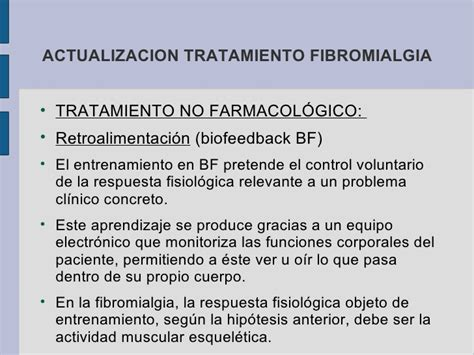Fibromialgia tratamiento 2010