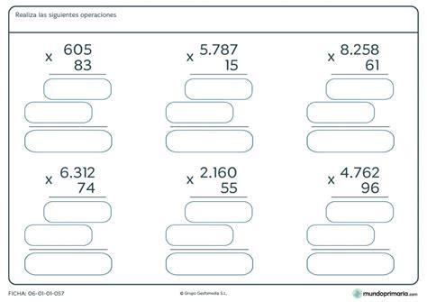 Ficha de hallar el resultado a las multiplicaciones para ...