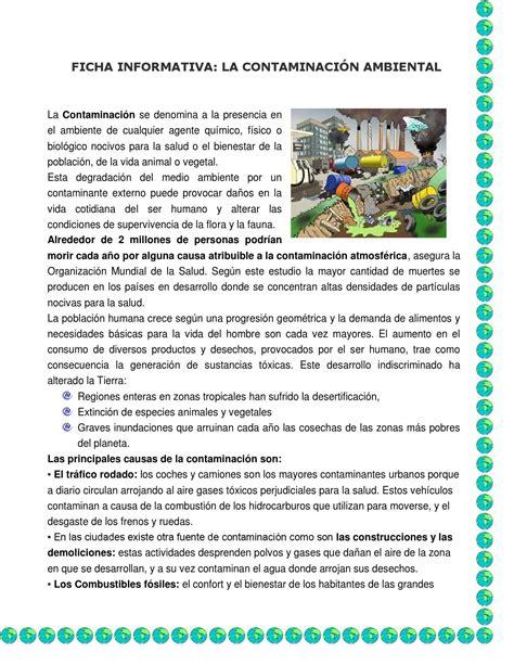 Ficha informativa contaminacion by Mary - Issuu