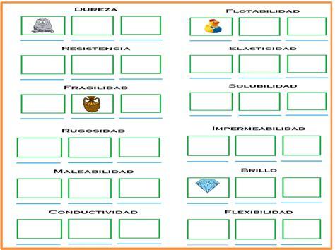 Fichas de Primaria: Propiedades específicas de la materia