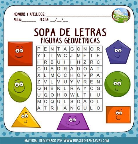 Fichas de SOPAS DE LETRAS para niños de primaria en PDF