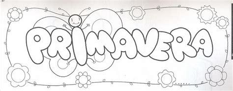 Fichas Infantiles: Cartel de la primavera para colorear