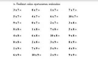 Fichas para repasar las tablas de multiplicar -Orientacion ...