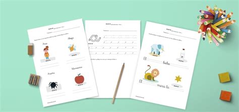 Fichas PDF para trabajar lectoescritura en niños de 5 años ...