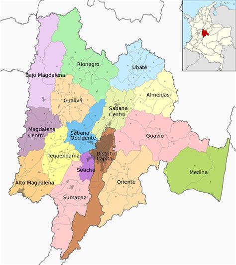 Fichier:Mapa de Cundinamarca (subdivisiones).svg — Wikipédia