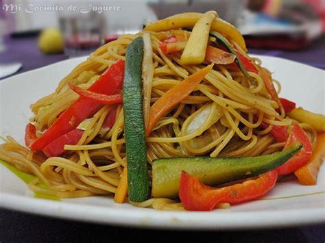 Fideos Chinos con Verduras - Recetas de Cocina Casera ...