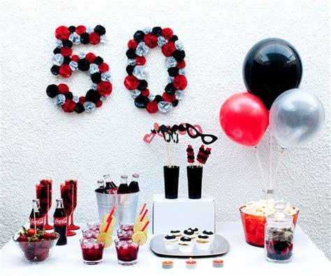 Fiesta 50 cumpleaños en colores blanco, negro y rojo | 50 ...