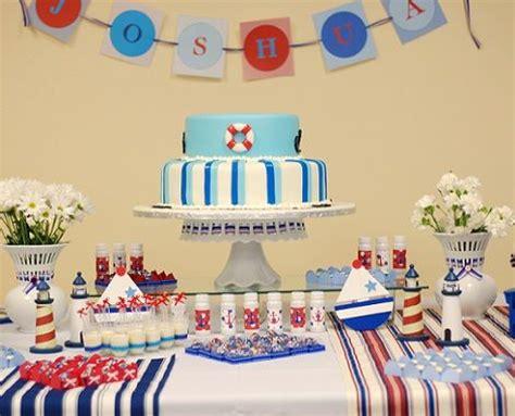 Fiesta de cumpleaños de un año marinera