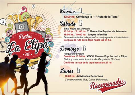 Fiesta de la Elipa 2015 - Programa de fiestas. ~ LA TRASTOTECA
