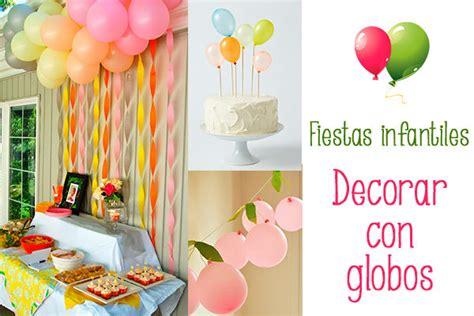 Fiestas infantiles, decorar con globos   Pequeocio