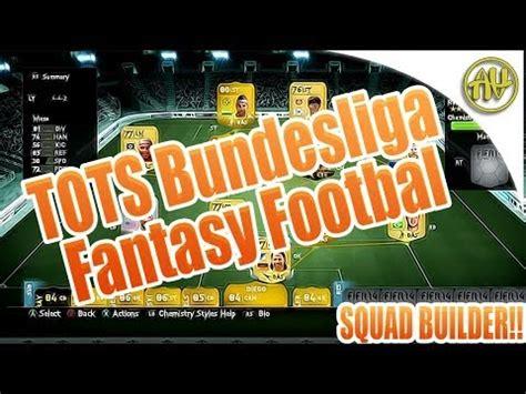 FIFA 14 - TOTS Bundesliga Fantasy Football Squad Builder ...