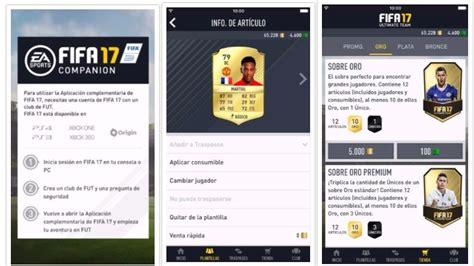 FIFA 17 Companion, descubre la mejor app para acompañar a ...