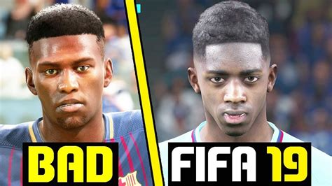 FIFA 18 BAD FACES THAT NEED UPDATES IN FIFA 19!  Dembele ...