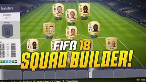 FIFA 18 PREMIER LEAGUE SQUAD BUILDER! - YouTube