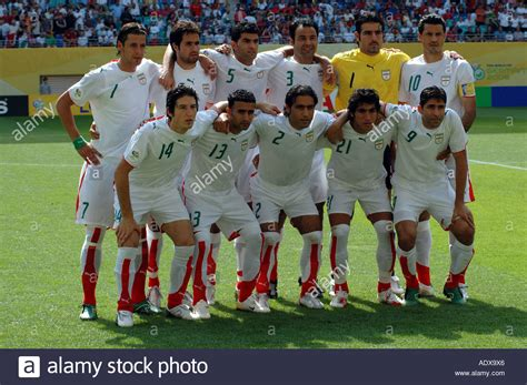 FIFA World Cup 2006 Iran vs Angola. The Iranian team Stock ...