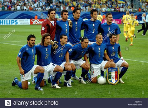 FIFA World Cup 2006 Italy vs Ukraine. The Italian squad ...