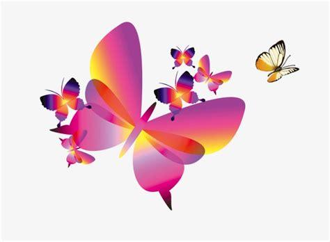 Fig. Dibujos animados mariposas pintadas a mano, Cartoon ...