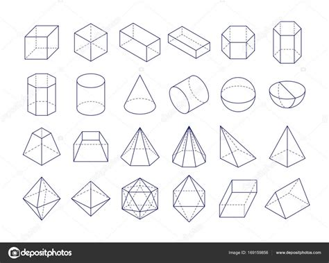 figuras geométricas 3D — Vector de stock © Alhovik #169159856