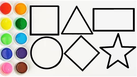 figuras geometricas para niños dibuja y colorea las ...