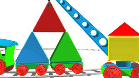 Figuras geométricas para niños - Triángulo - Trenes para ...
