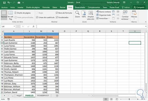 Fijar, bloquear y congelar paneles, columnas, filas Excel ...