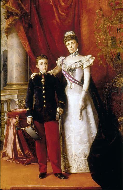 File:Alfonso XIII y María Cristina Regente. 1898. Luis ...
