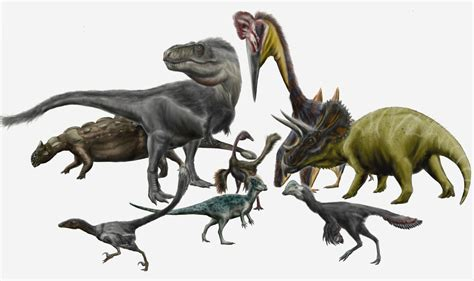 File:Hell Creek dinosaurs and pterosaurs by durbed.jpg ...