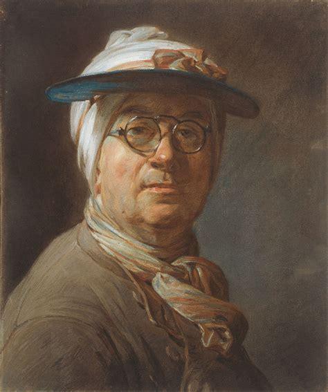 File:Jean Siméon Chardin   Self Portrait with a Visor ...