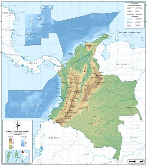 File:Mapa de Colombia (relieve).svg - Wikimedia Commons