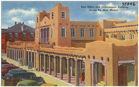 File:Post Office and Government building, Santa Fe, New ...
