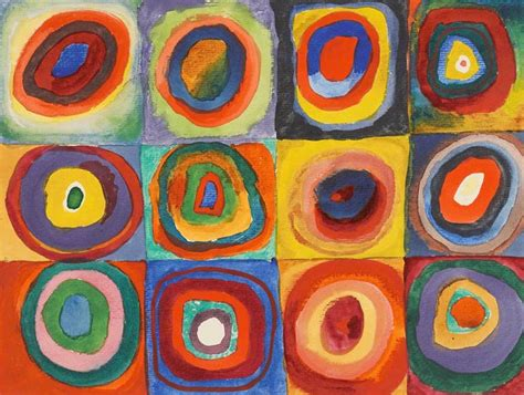 File:Vassily Kandinsky, 1913 - Color Study, Squares with ...